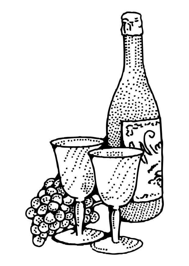 Malvorlage Wein