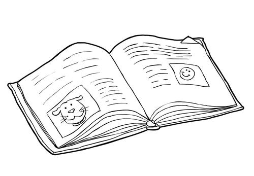 Dibujo para colorear Libro - leer (2)