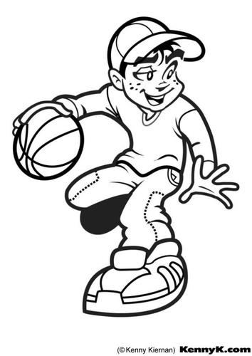 dessiner un basketteur