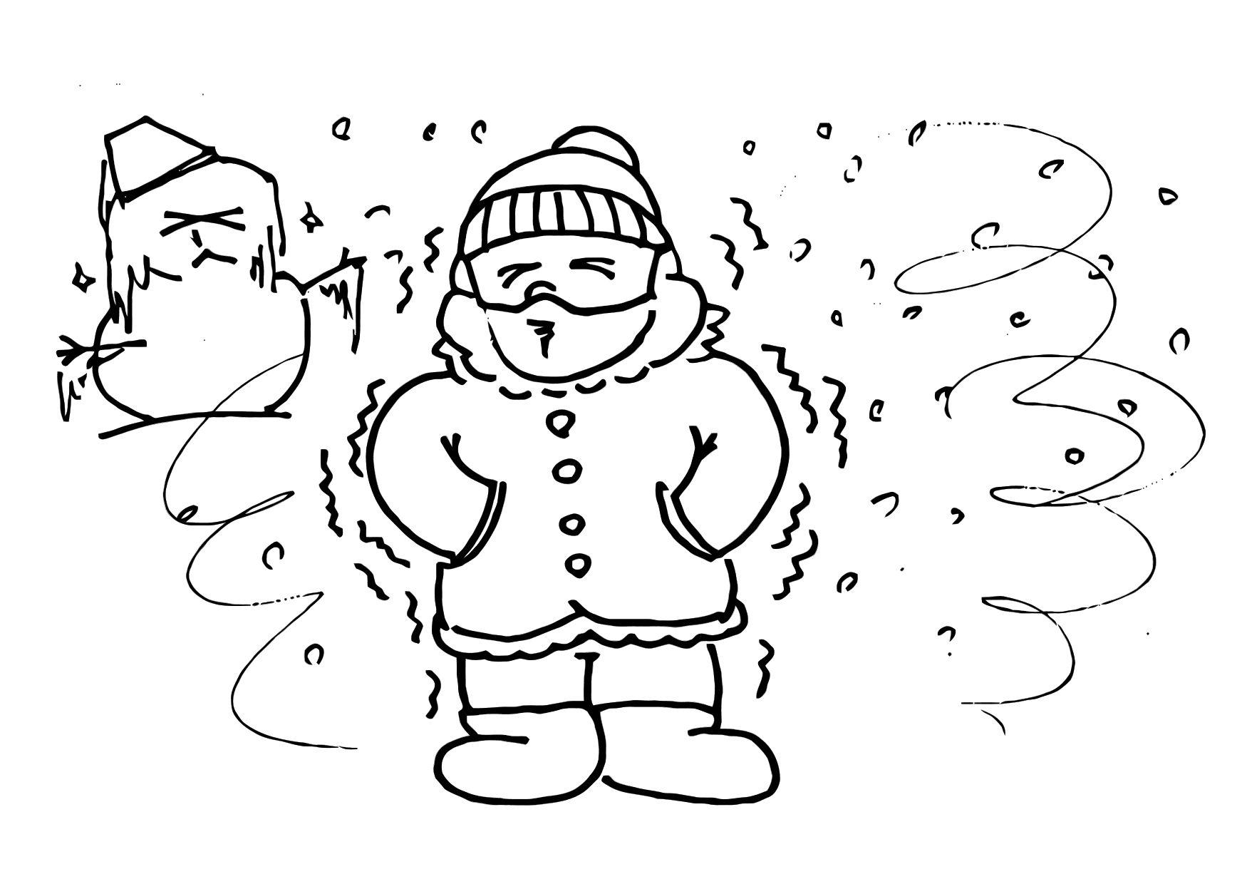 Coloriage 013b Froid Hiver