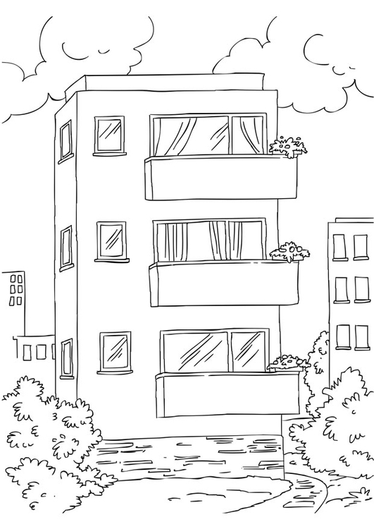 Coloriage appartement  img 26228 Images