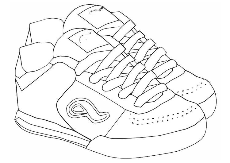 free printable sneaker template