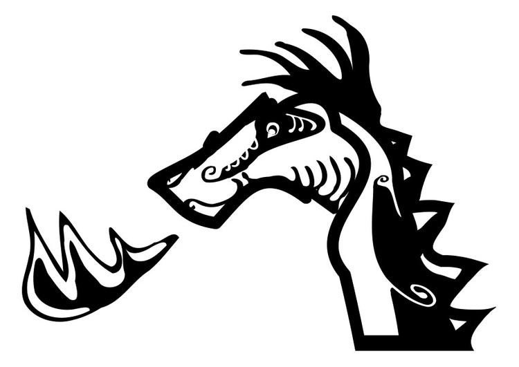 Coloriage dragon - Coloriages Gratuits à Imprimer