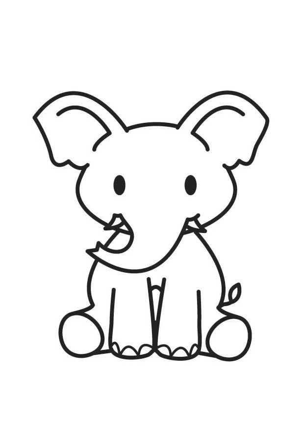 Dibujos De Elefantes Bebes Para Colorear