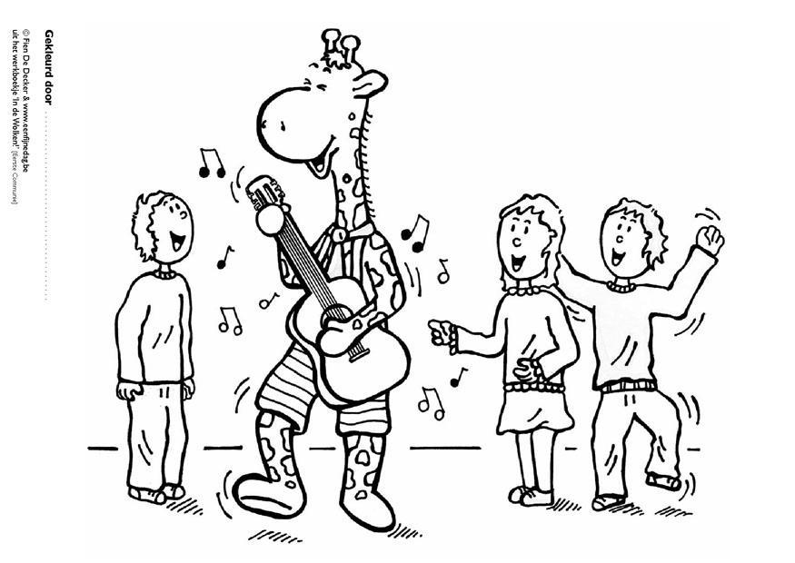 Coloriage Jules et ses amis jouent de la musique  img