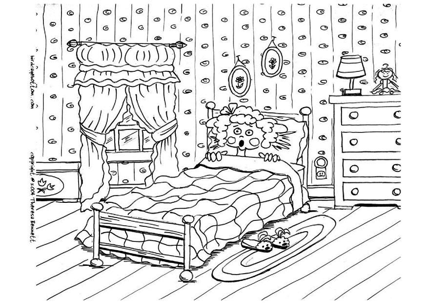 Coloriage peur au lit cauchemar  img 9051 Images