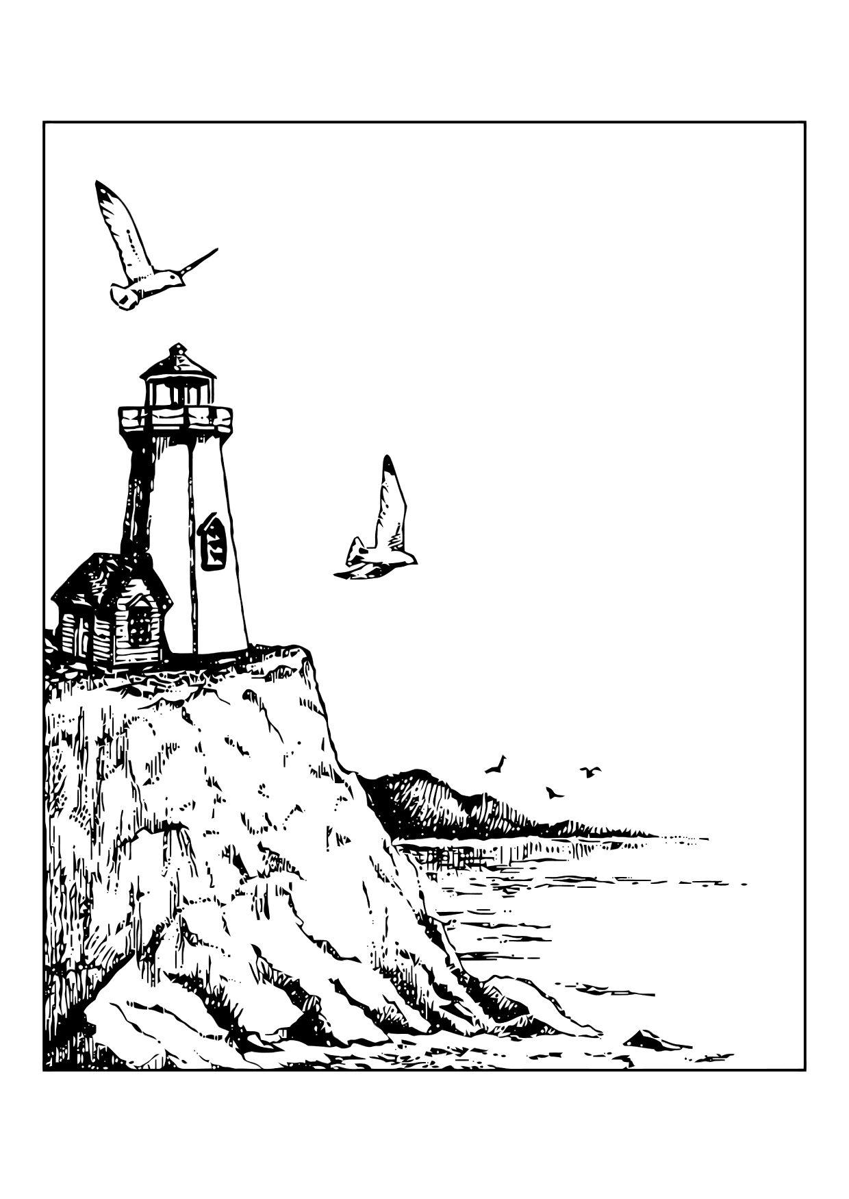 Coloriage phare  img 11868