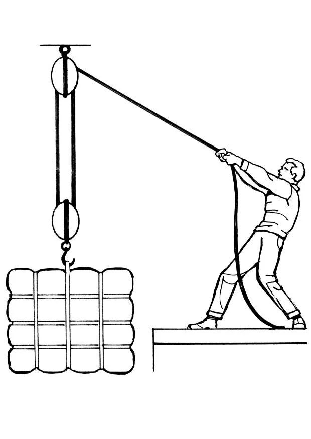 simple block and tackle diagram ez go electric golf cart wiring coloriage poulie - img 18939