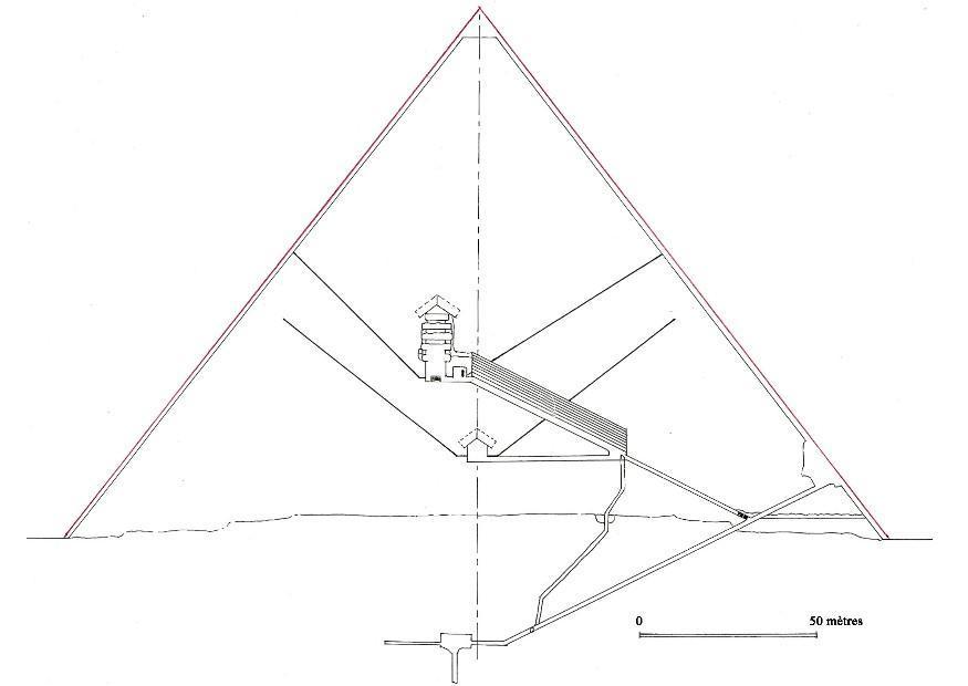 Coloriage tranche de la pyramide de Gizeh - Coloriages