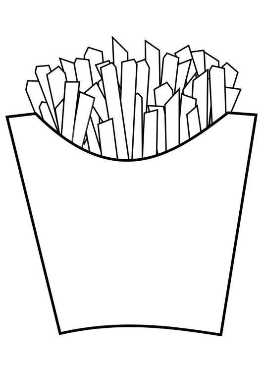 dessin frites