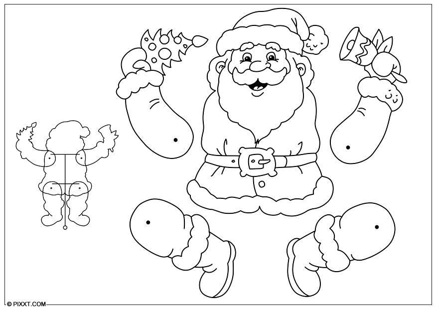 Creatività marionetta di Babbo Natale. Bimbi creativi