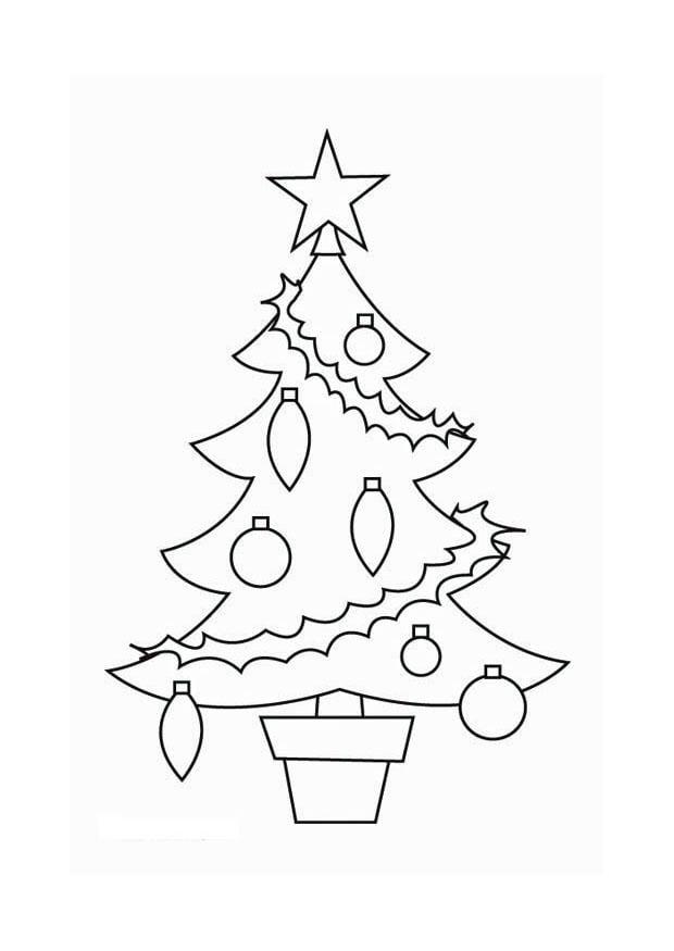 Disegno da colorare albero di Natale  Cat 16537 Images