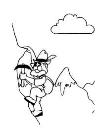 Disegno da colorare alpino - Cat. 12220.