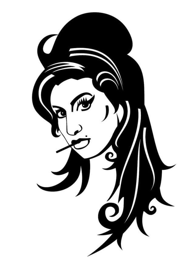 Disegno Da Colorare Amy Winehouse Cat 24677