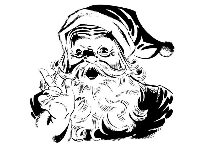 Disegno Da Colorare Babbo Natale Cat 10041