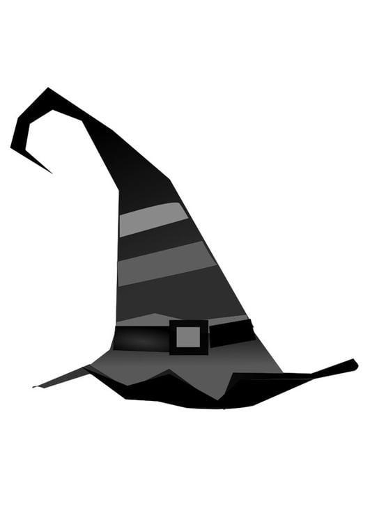 Disegno da colorare cappello da strega