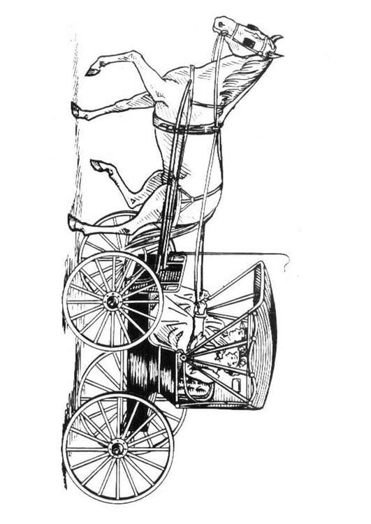 Disegno Da Colorare Cavallo Con Carrozza Cat 18982