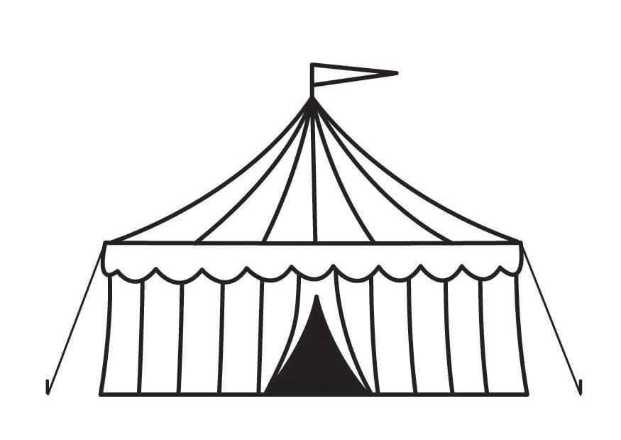 Disegno da colorare circo