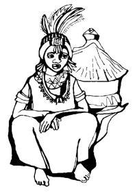 Disegno da colorare donna africana - Cat. 10981.