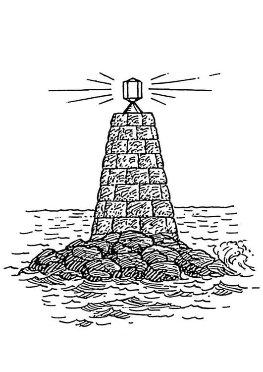Disegno da colorare faro sul mare  Cat 18883 Images