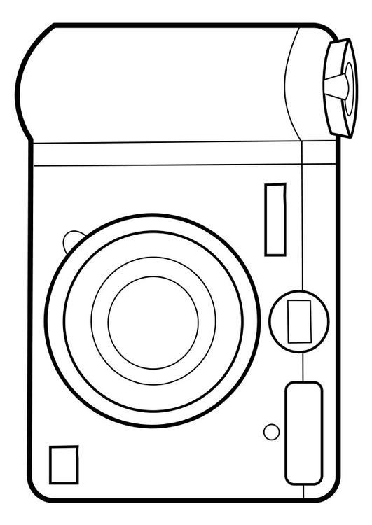Disegno da colorare fotocamera  Cat 22858
