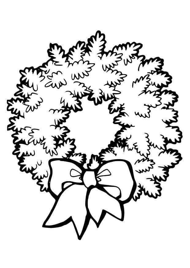 Ghirlanda Disegno Di Natale Da Colorare Disegni Da