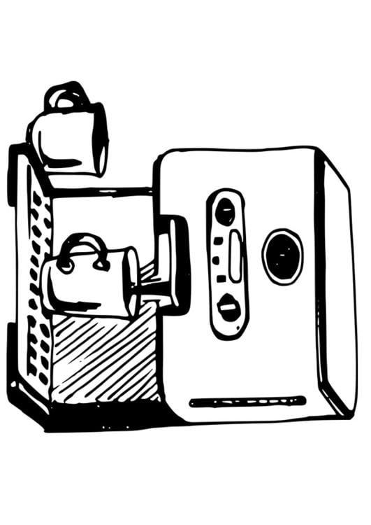 Disegno da colorare macchina da caff  Cat 19091