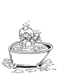 Disegno da colorare nella vasca da bagno - Cat. 19195.