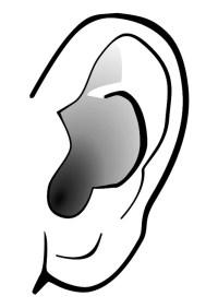 Disegno da colorare orecchio - silenzio - Cat. 29303.
