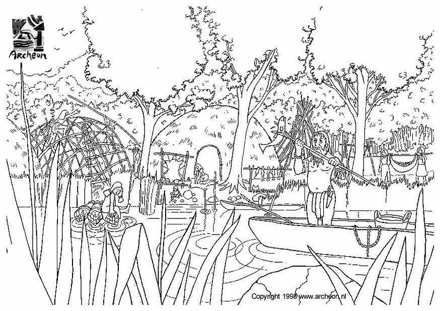 Disegno da colorare preistoria  Cat 3201 Images
