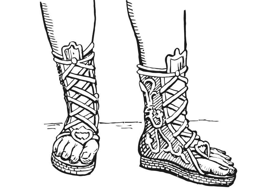 Zapatos Y Botas Para Colorear
