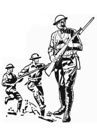 Disegno da colorare soldato prima guerra mondiale - Cat ...
