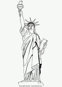 Disegno da colorare Statua della Libert - Cat. 9790.