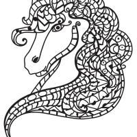 Disegno da colorare Testa di cavallo   Disegni Da Colorare ...
