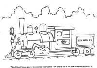 Disegno da colorare treno a vapore - Cat. 3968.