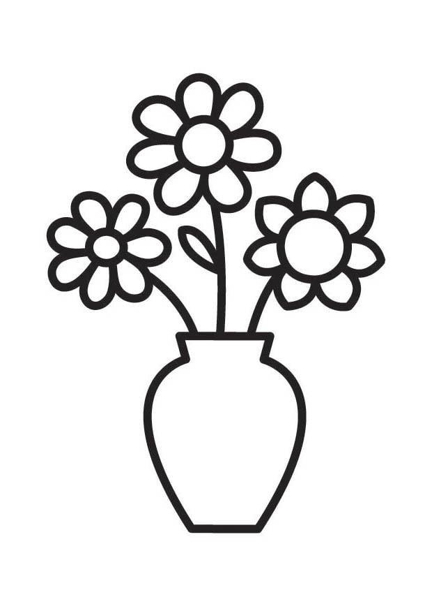 disegni di vasi di fiori da stampare