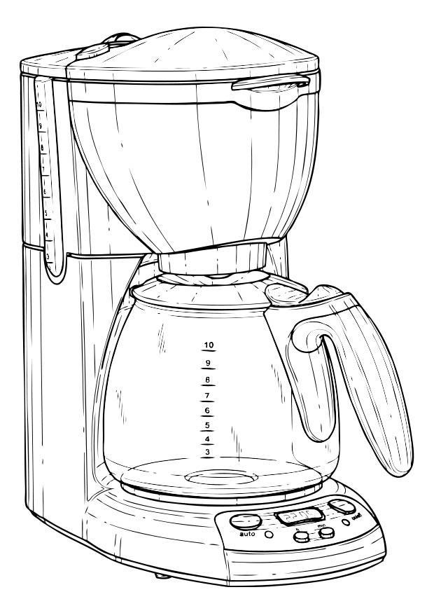 Pgina para colorir cafeteira  img 17355 Images