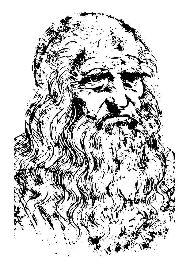 Pgina para colorir Leonardo da Vinci  img 22575