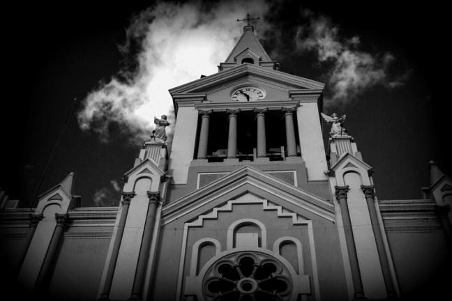 View of the church Vilcabamba, Loja. Ecuador