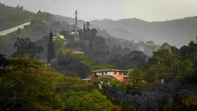 A view from the balcony El Salado, Envigado, Antioquia, Colombia