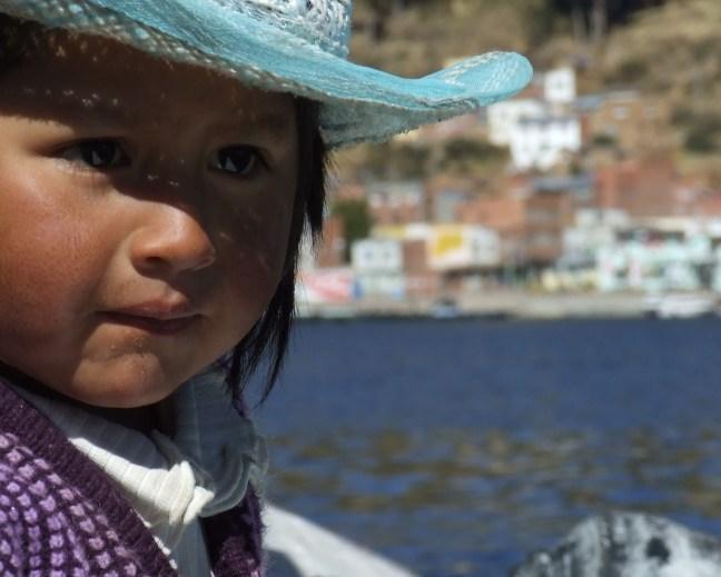 At the lake Lake Titicaca, Copacabana, Bolivia