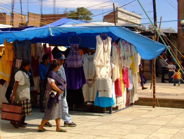 En el mercado Ocotlán, Oaxaca, México