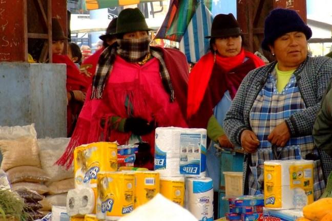 Mujeres zumbaguas Pujilí, Cotopaxi, Ecuadort