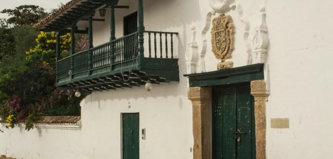 Fachada en blanco Villa de Leyva, Boyacá, Colombia