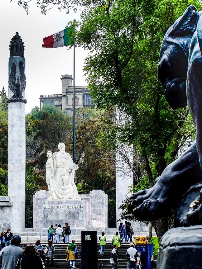 La entrada Bosque de Chapultepec, Ciudad de México, México
