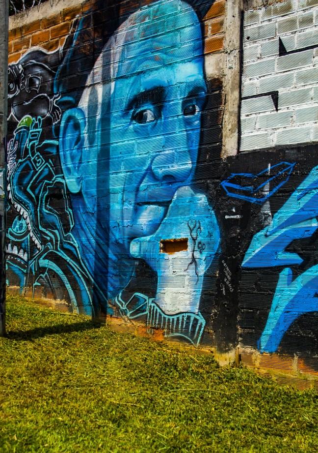 Mural de Fernando Gonzalez Parque Cultural Deborah Arango, Envigado, Colombia