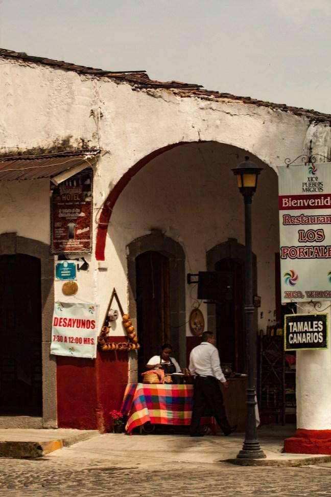 Los portales Xico, Veracruz, México