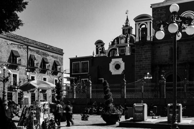 La esquina Zócalo de Puebla, Puebla, México