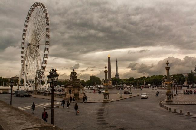 En la plaza Place Concorde, Paris,Francia