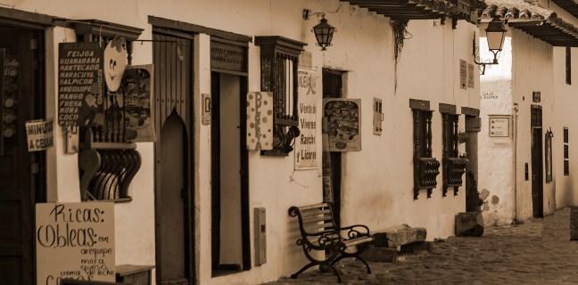 La banca Villa de Leyva, Boyacá, Colombia